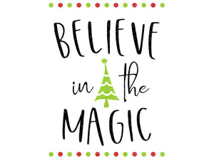 Believe In The Magic Svg - Believe Svg - Christmas SVG - Christmas Magic Svg - Believe Magic SVG - Christmas Tree Svg - Svg Eps Dxf Png