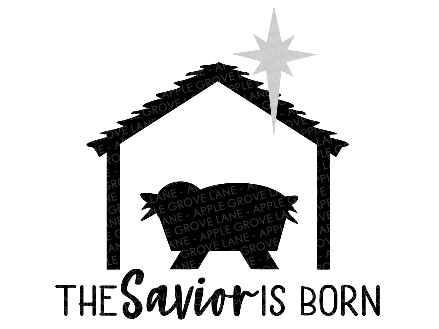 The Savior Is Born Svg - Nativity Svg - Savior Svg - Jesus Svg - Manger Svg - Christmas Svg - Nativity Star Svg - Svg Eps Dxf Png