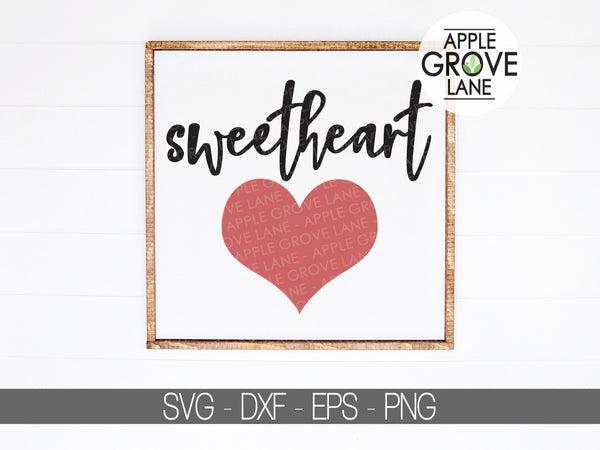 Sweetheart Svg - Heart Svg - Sweetheart Clipart - Sweetheart Vector - Valentines Day Svg - Love Svg - Heart Clipart - Svg Eps Dxf Png
