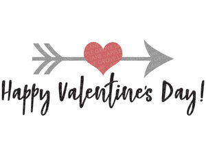 Happy Valentines Day Svg - Valentine Svg - Valentines Day Svg - Heart Svg - Arrow Svg - Cupid Svg - Kids Valentine Svg - Svg Eps Dxf Png