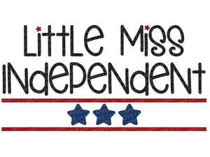 Little Miss Independent Svg - 4th of July Svg - Flag Svg - Patriotic SVG - Patriotic Shirt Svg - Girls Patriotic Svg - Svg Eps Dxf Png