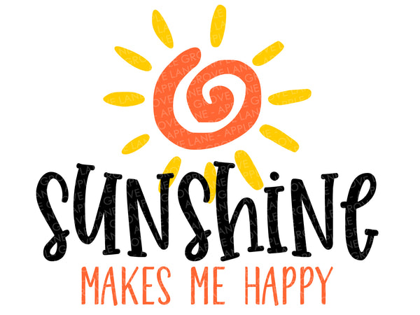 Sunshine Svg - Sun Svg - Summertime Svg - Summer Svg - Makes Me Happy Svg - Beach Svg - Svg Eps Dxf Png