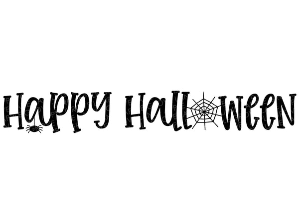 Happy Halloween Svg - Fall Svg - Halloween Svg - Spider Web Svg - Halloween Spider Svg - Svg Eps Png Dxf