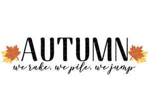 Autumn Leaves Svg - Fall Svg - Autumn Svg - Thanksgiving Svg - Rake Pile Jump Svg - Fall Leaves Svg - Svg Eps Png Dxf