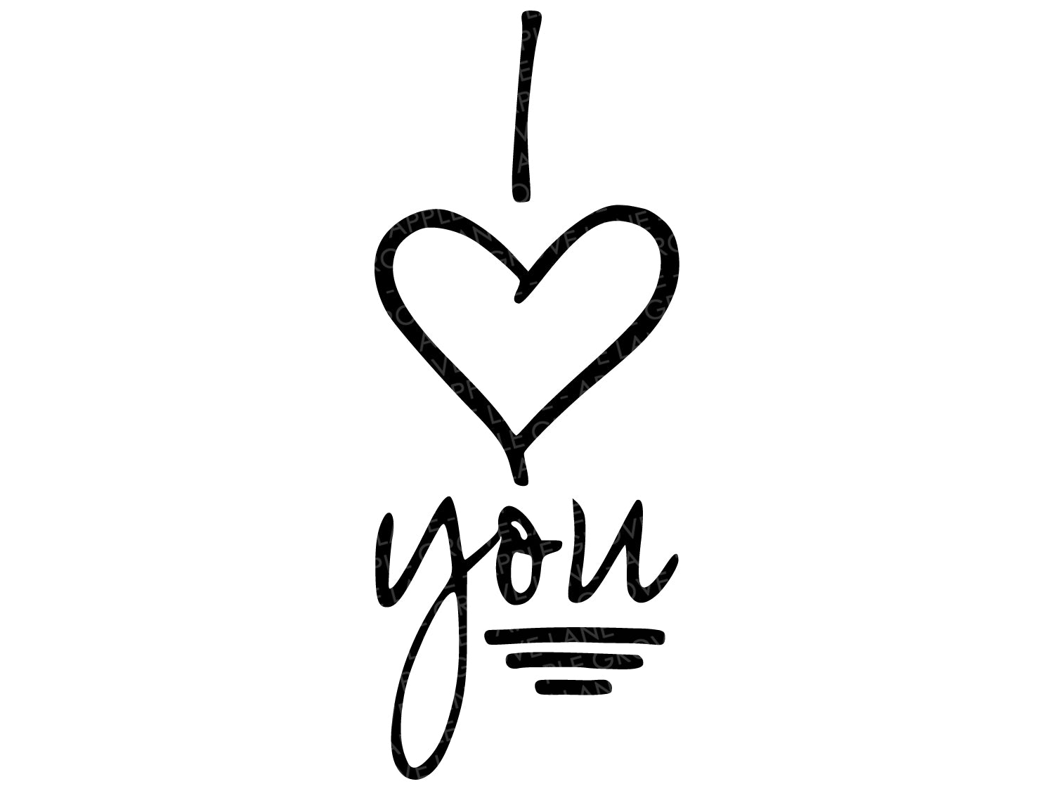 I heart you Svg - Love You Svg - Valentine's Day Svg - Love Svg - I Love You Svg - Wedding Svg - Svg Eps Dxf Png
