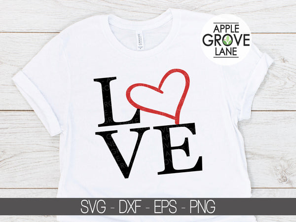 Love Svg - Valentine's Day Svg - Heart Svg - Valentine Shirt Svg - Wedding Svg - Svg Eps Dxf Png