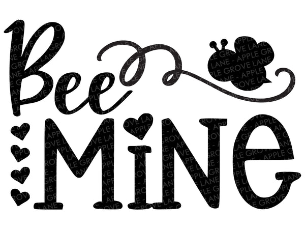 Bee Mine Svg - Valentine's Day Svg - Valentine Shirt Svg - Heart Svg - Honey Bee Svg - Svg Eps Dxf Png