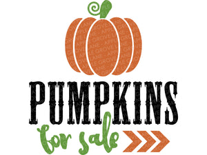 Pumpkins for Sale Svg - Fall Svg - Thanksgiving Svg - Halloween Svg - Pumpkins Svg - Svg Eps Dxf Png