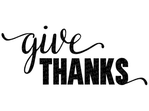 Give Thanks Svg - Fall Svg - Thanksgiving Svg - Autumn Svg - Thankful Svg - Svg Eps Png Dxf