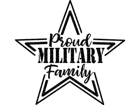 Proud Military Family Svg - Military Family Svg - Military Svg - Patriotic Svg - Veterans Day Svg - Memorial Day Svg - Svg Eps Dxf Png