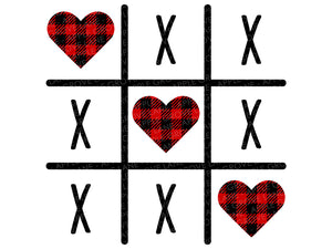 Happy Valentines Day Svg - Valentine Svg - Valentines Day Svg - Buffalo Plaid Heart Svg - Valentine Shirt Svg - Tic Tac Toe Svg Eps Dxf Png