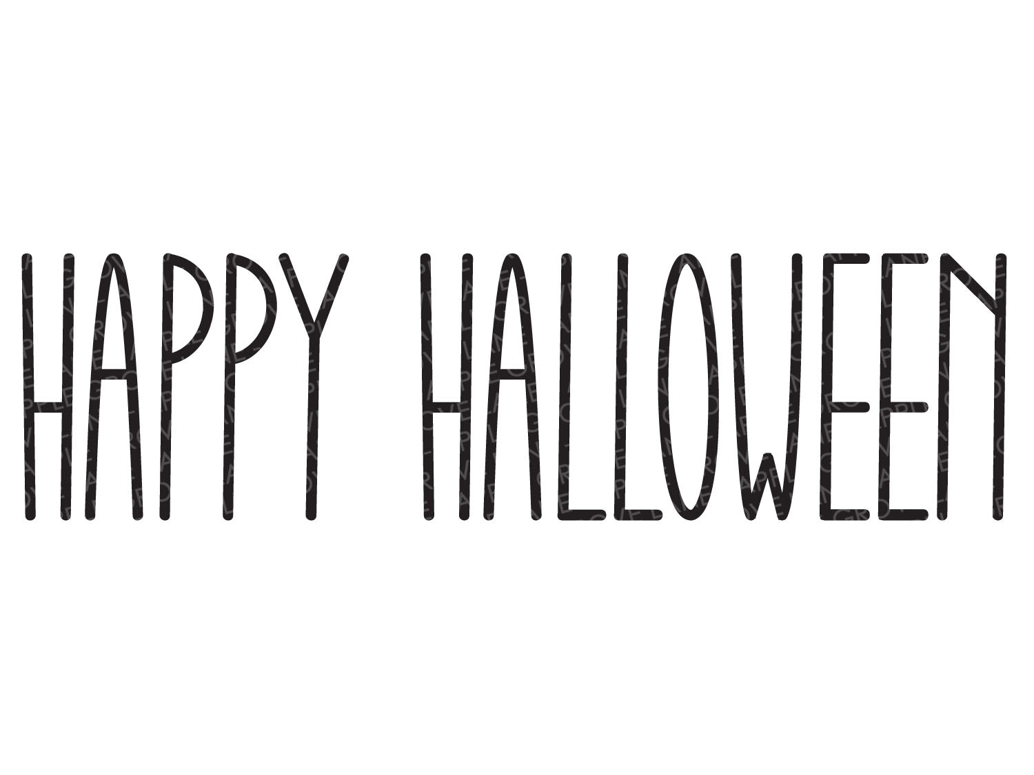 Happy Halloween Svg - Fall Svg - Halloween Svg - Halloween Cut File - Halloween Sign Svg - Svg Eps Png Dxf