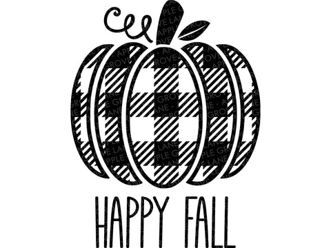 Buffalo Plaid Pumpkin Svg - Happy Fall Svg - Pumpkin SVG - Buffalo Check Pumpkin Svg - Fall SVG - Pumpkin Patch Clipart - Svg Eps Png Dxf
