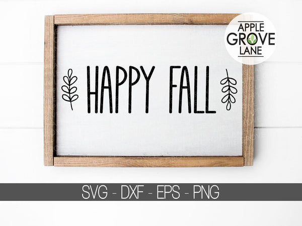 Happy Fall SVG - Fall svg - Thanksgiving Svg - Hello Fall SVG - Autumn Svg - Thankful Svg - Thanksgiving Clipart - Svg Eps Dxf Png
