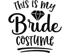 Bride Costume Svg - Halloween Wedding SVG - Halloween Bride Svg - Halloween Svg - Bachelorette Party SVG - Bridal Shower Svg Eps Png Dxf