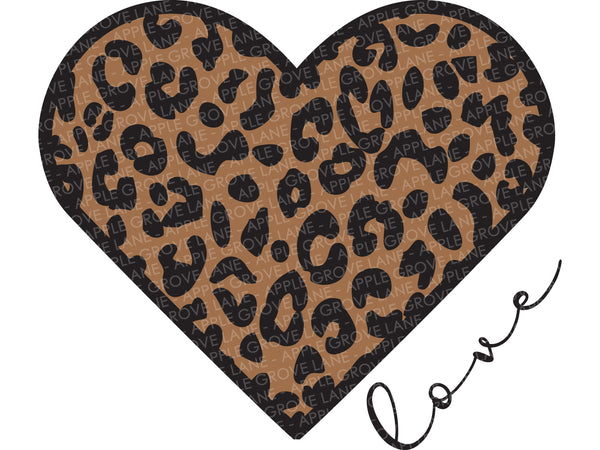 Leopard Heart Svg - Valentine SVG - Love Heart Svg - Valentine Shirt SVG - Valentines Clipart - Cheetah Heart Svg - Love Svg Eps Dxf Png