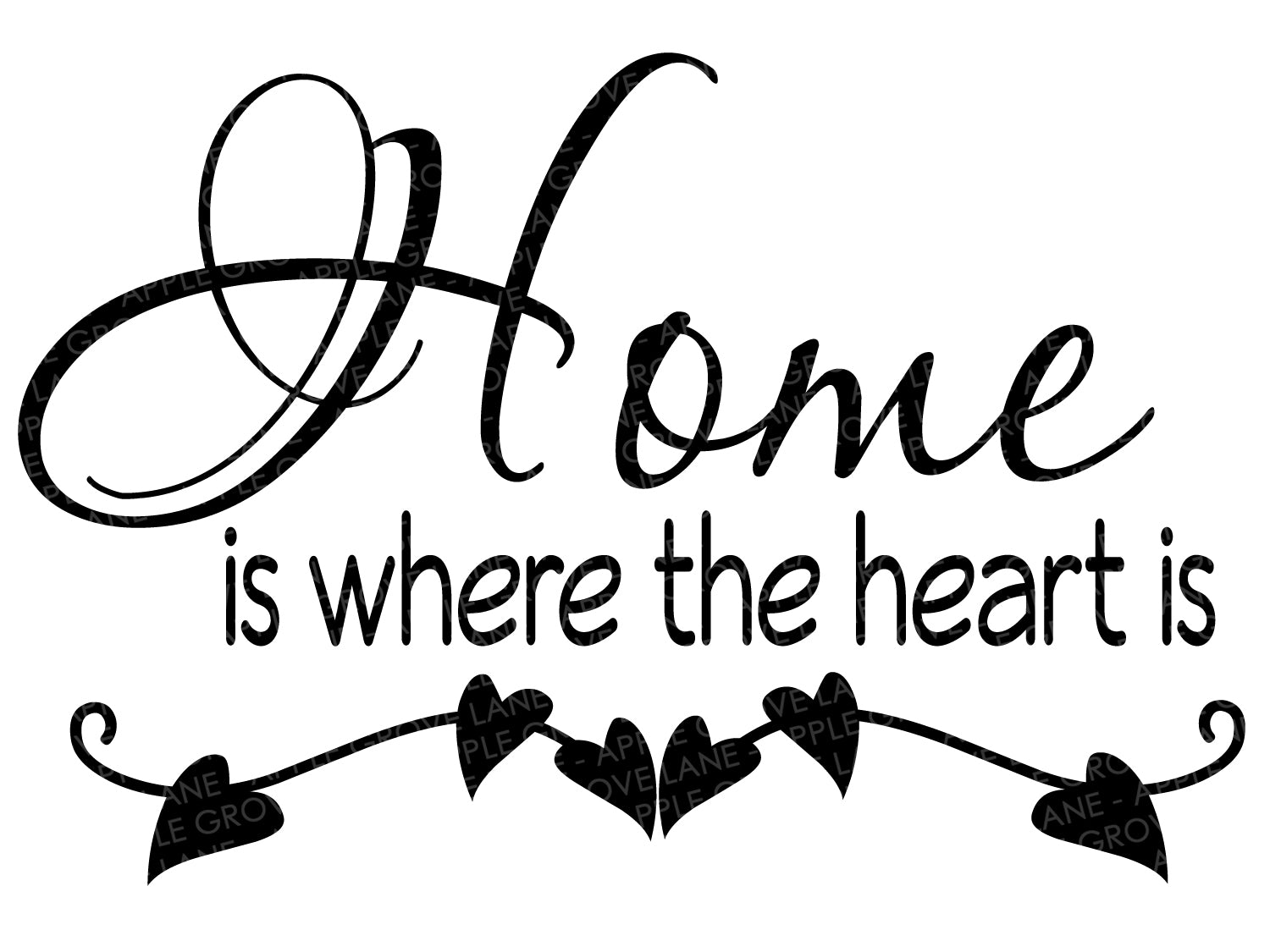 Home is where the heart is SVG - Home Svg - Where the Heart is SVG - Heart Svg - Home Clip Art - Home Heart Cut File - Svg Eps Png Dxf