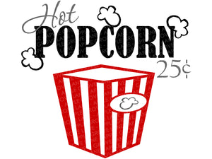 Hot Popcorn Svg - Popcorn 25 cents Svg - Movie Svg - Home Theater Svg - Movie Theater Svg - Popcorn Container Svg - Svg Eps Dxf Png