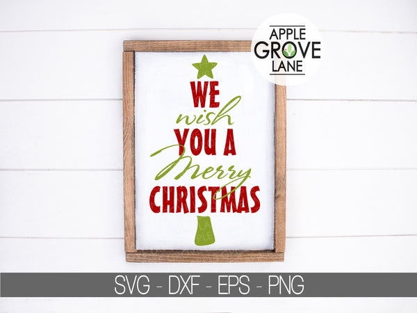 We Wish You A Merry Christmas Svg - Merry Christmas Svg - Christmas Tree Svg - Christmas Star Svg - Christmas Clipart
