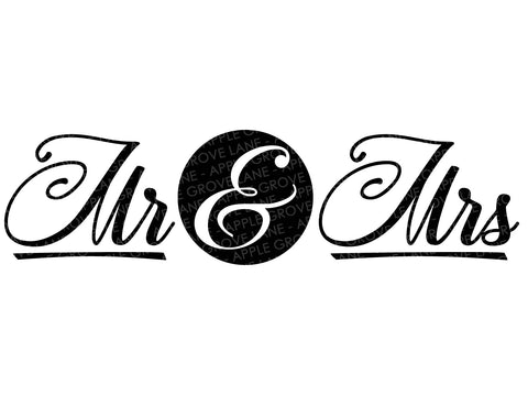 Mr and Mrs Svg - Wedding Svg - Marriage Svg - Just Married Svg - Bride Svg - Groom Svg - Honeymoon SVG - Svg Eps Dxf Png