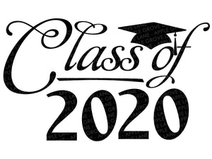 Class of 2020 Svg - Graduation Svg - School Svg - Graduation 2020 Svg - High School Svg - Svg Eps Png Dxf