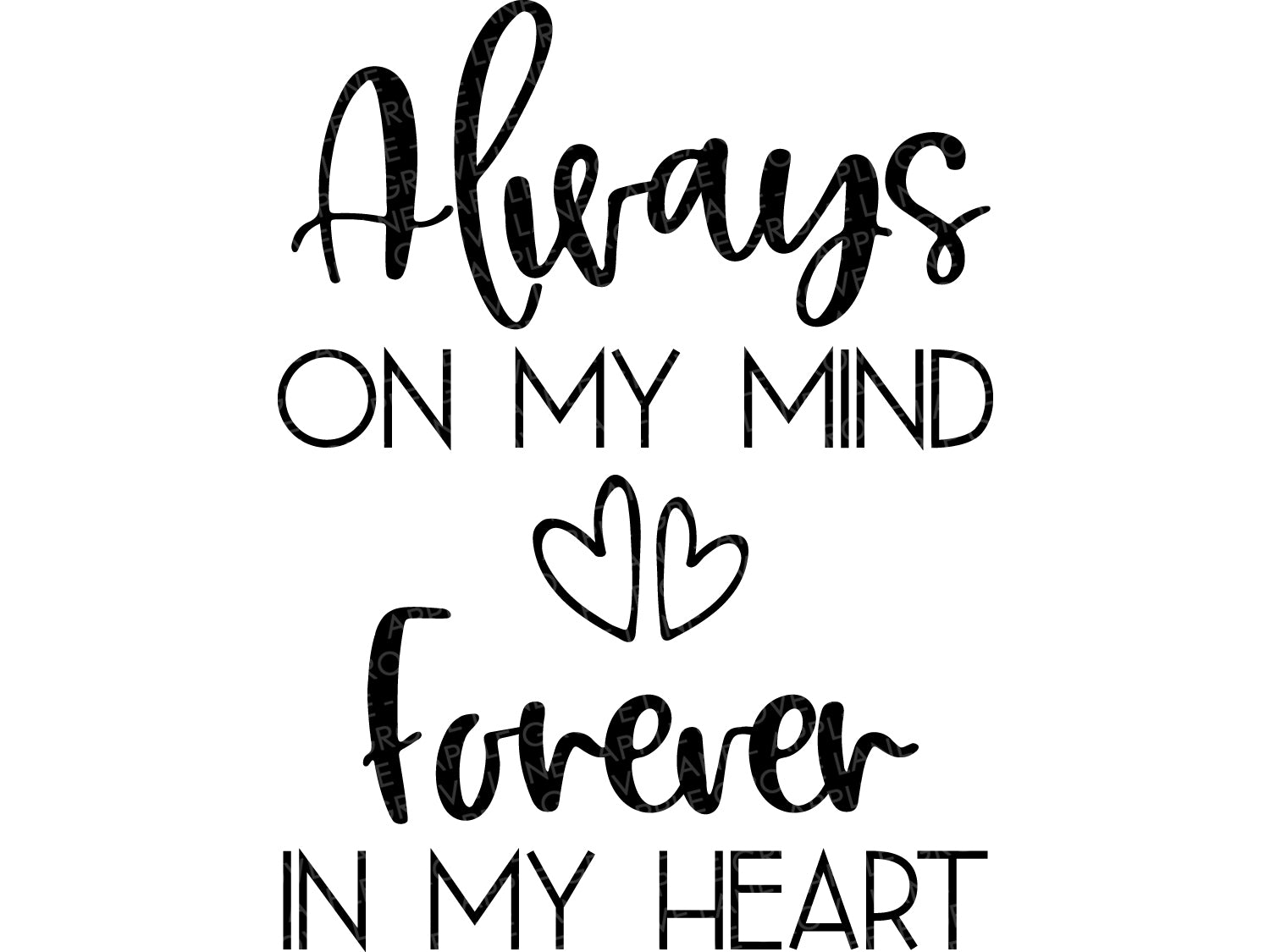 Always On My Mind Forever In My Heart Svg - Always On My Mind Svg - Forever In My Heart Svg - Memorial Svg - In Memory Svg - Memorial Sign
