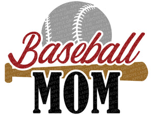 Baseball Mom Svg - Baseball Svg - Baseball Shirt Svg - Sports Svg - Baseball Bat Svg - Baseball Fan Svg - Svg Eps Dxf Png