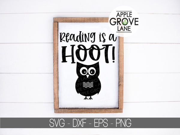Reading Is A Hoot Svg - Reading Svg - Classroom Svg - Library Svg - Teacher - Reading Clip Art - Teacher Owl Svg - Svg Eps Dxf Png