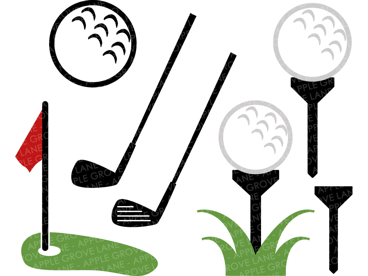 Golf SVG Bundle - Golf Club Svg - Golf Ball SVG - Golf Tee Svg - Sports SVG - Golf Clip Art - Golfer Svg - Svg Eps Png Dxf