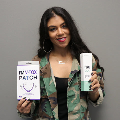 Brandi Marie King pairs the I'm Cica essence with the I'm V-Tox Patch