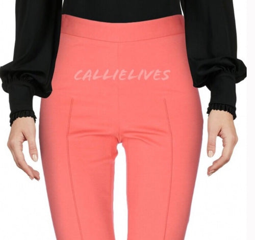 Elaine Ponte: Moschino Cheap Chic Coral Work Pants, Skinny Pants & Palazzos & Other Cute Bottoms, CallieLives