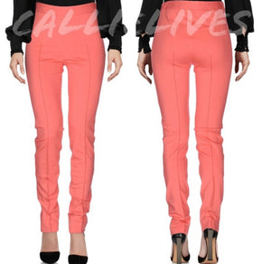 Elaine Ponte: Moschino Cheap Chic Coral Work Pants