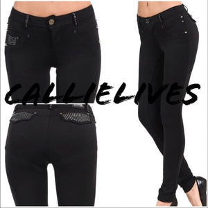 Skinny Dipping: Scuba Studded Booty Lifting Pants - callielives