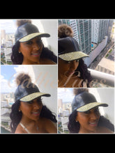 Load image into Gallery viewer, Pink or Black Studded Stone Pom Pom Hats - callielives