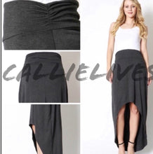 Load image into Gallery viewer, Elaine Hi-Lo Scrunch: Comfy Gray Casual Maxi SKIRT