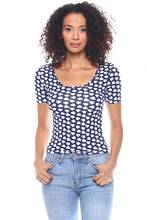 Load image into Gallery viewer, Callie Polka Heart: Stretch Dotted Crop Top