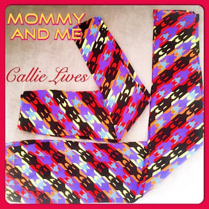Rainbow Digital Skull Mommy & Me Matching Leggings - callielives