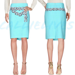 Elaine Link MOSCHINO CHEAP CHIC Chain pencil skirt