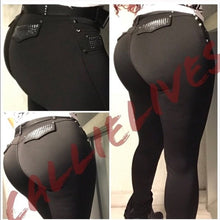 Load image into Gallery viewer, Skinny Dipping: Scuba Studded Booty Lifting Pants