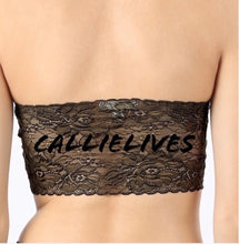 Load image into Gallery viewer, Xena Lace: SEAMLESS Black BANDEAU Tube Top OneSize