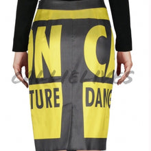Load image into Gallery viewer, Elaine Couture: Caution MOSCHINO pencil skirt