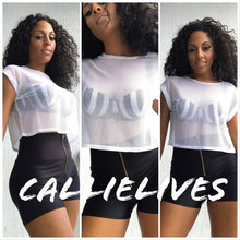 Load image into Gallery viewer, Stasia All Net: Mesh Crew Neck Cropped T-shirt, Tops, CallieLives