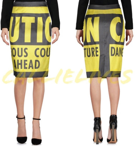 Elaine Couture: Caution MOSCHINO pencil skirt