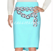 Load image into Gallery viewer, Elaine Link MOSCHINO CHEAP CHIC Chain pencil skirt