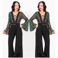 Load image into Gallery viewer, Callie Fringe Sequin Criss Cross Plunging Jumpsuit, Rompers and Catsuits, CallieLives