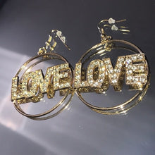 Load image into Gallery viewer, Miz Circle of Love: Bling Rhinestone Earrings - callielives