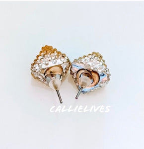 Callie Clear Bling Square Sparkling Stud Earrings