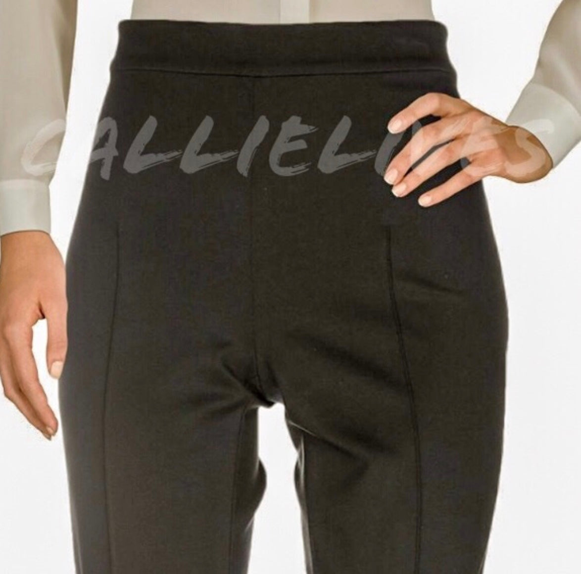 Elaine Ponte: Moschino Cheap Chic Black Work Pants