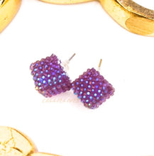 Load image into Gallery viewer, Callie Lilac Purple Bling Sparkling Stud Earrings, Jewelry, CallieLives