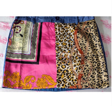 Load image into Gallery viewer, Stasia Satin Animal: Chain Print Scarf Mini Skirt